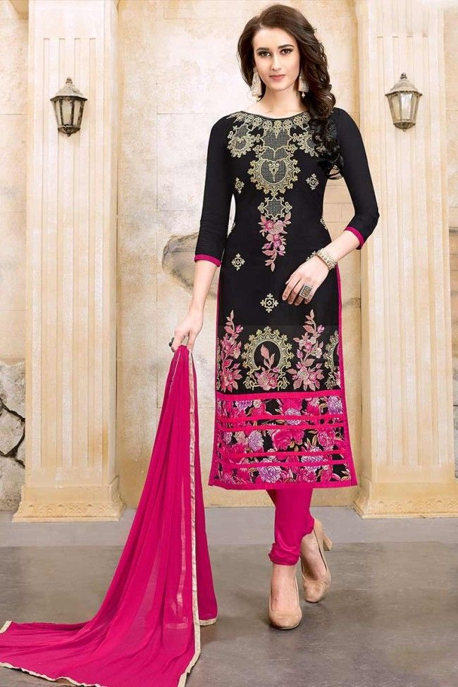 Costume marie noir rose