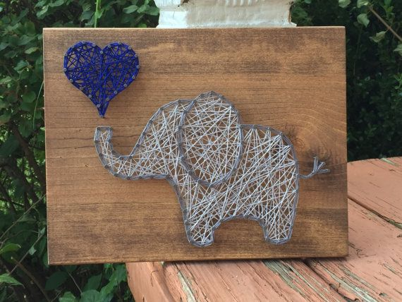made to order elephant string art sign th c ng. Black Bedroom Furniture Sets. Home Design Ideas