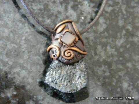 Black Tourmaline pendant with Moonstone