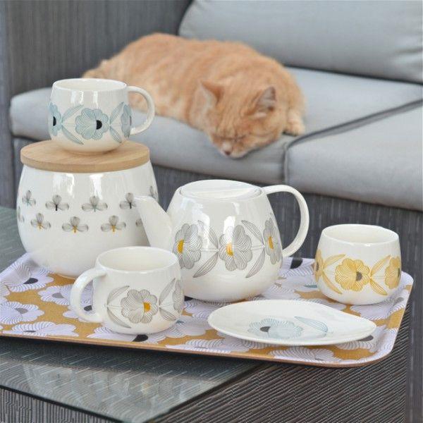 Mug moon fleurs jaunes mr mrs clynk beautiful dishes vaisselle deco et - Accessoires de cuisine originaux ...