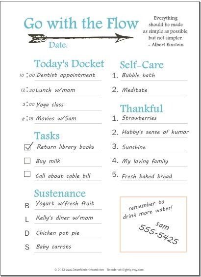 Free Daily Planner Blank Printable Page