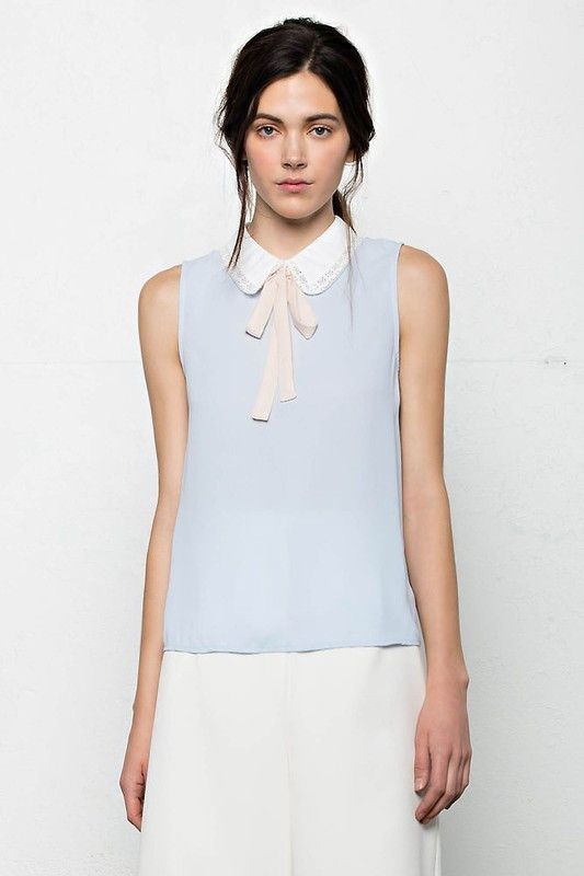 Camille Bow Top - Ivory/Black – Shop Lombard and Fifth. Bow top for women. Parisian fashion. french inspo. Pussy bow