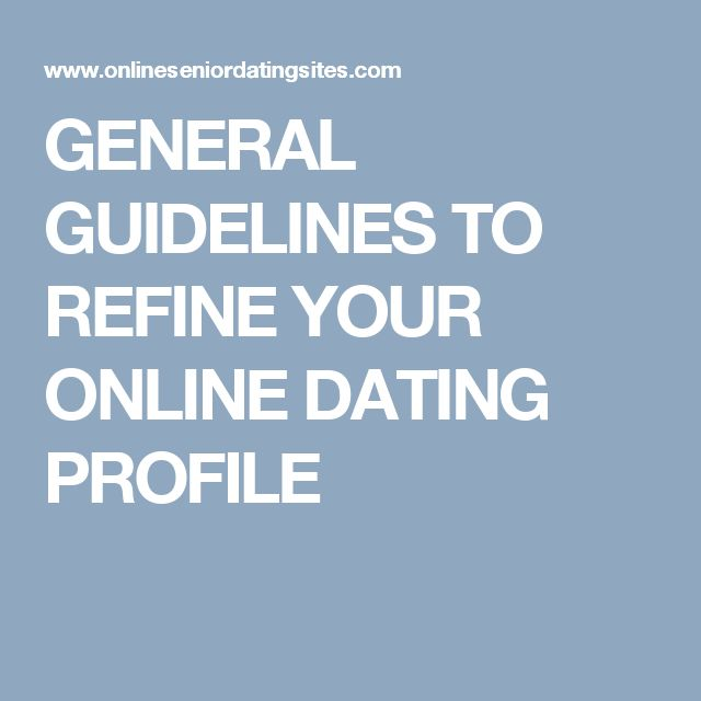 Online dating guidelines