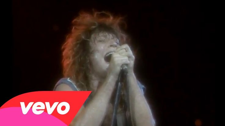 """Bon Jovi - Never Say Goodbye, via YouTube.  LOVE!! This was my 2nd concert to ever attend-I went on the """"Slippery When Wet"""" tour-AWESOME as a teen in love"""
