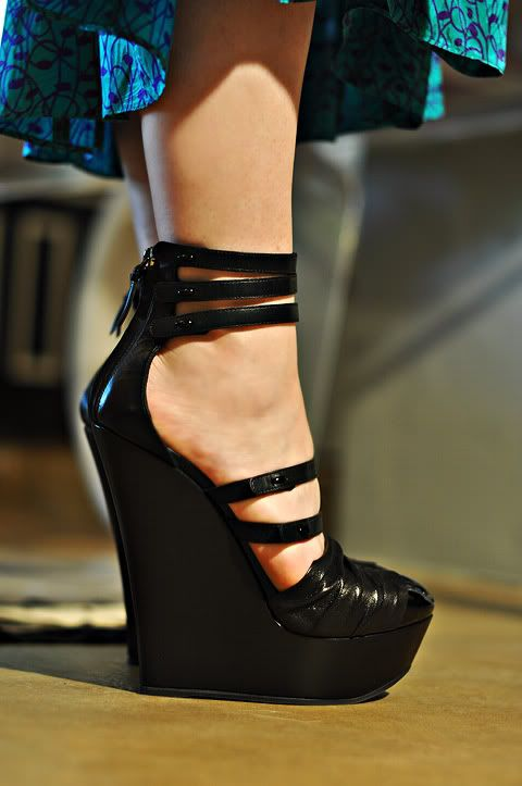 Givenchy Black Wedges #Shoes
