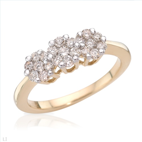 $389.00  Superb Brand New Ring With 0.61ctw Genuine  Clean Diamonds Well Made in Yellow Gold- Size 7 We Can Resize from 5.5 to 8.5 - Certificate Available.