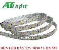 Đèn led dây 12V 5050 đơn sắc cuộn 5m