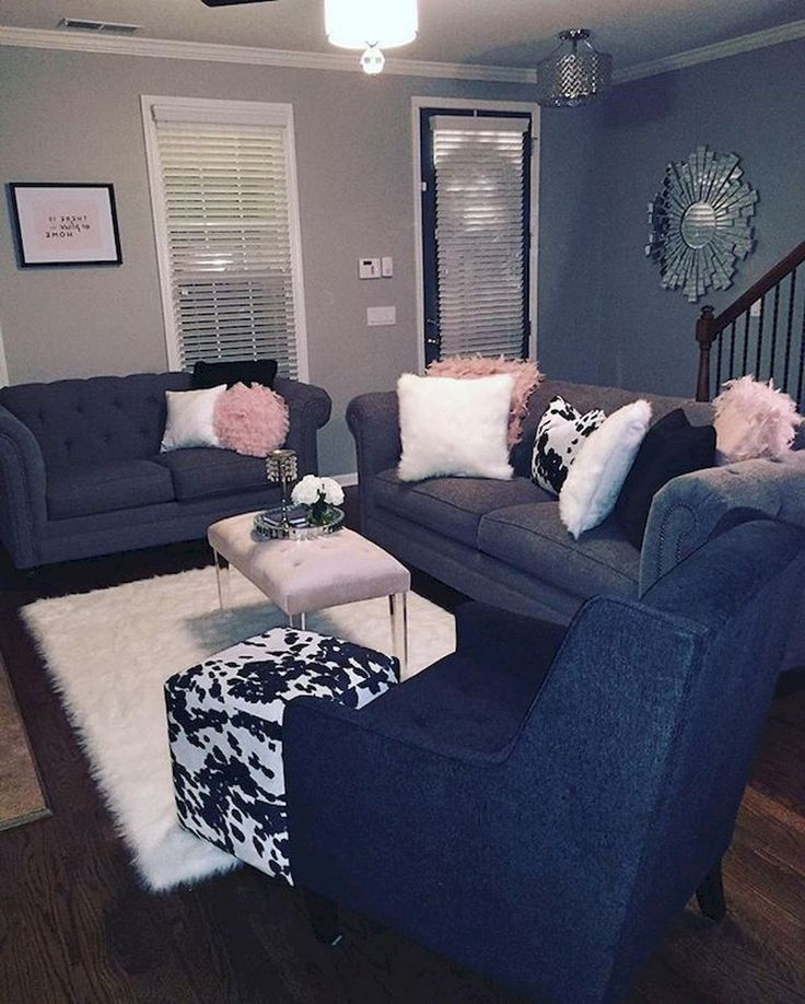82+ Comfy Small Apartment Living Room Decorating Ideas on ...