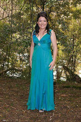 Blue grecian style ball gown  http://www.arcarocouture.com.au/