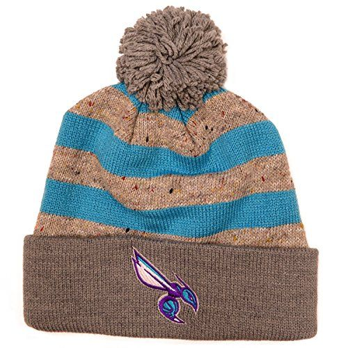 NBA Mitchell  Ness Speckled Oatmeal Knit Hat One Size Charlotte Hornets * Check out this great product.