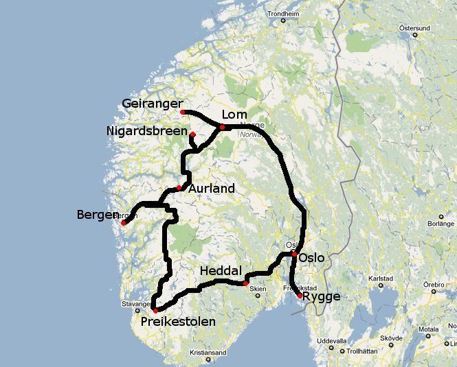 Ruta por Noruega. Itinerario de un viaje por los fiordos noruegos en coche. Consejos para dormir barato en Noruega. #pasajesbaratos