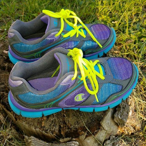 Champiom women athletic shoes Good condition  champion women athletic shoes. Very comfy. Very bright color Shoes Athletic Shoes
