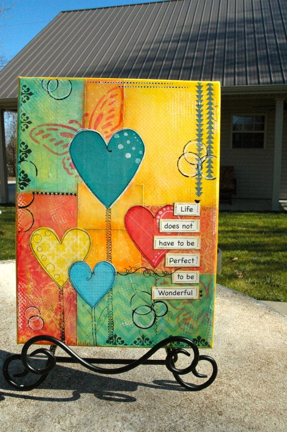 Life Does not have to be Perfect Mixed Media by HazelsAtticDesigns
