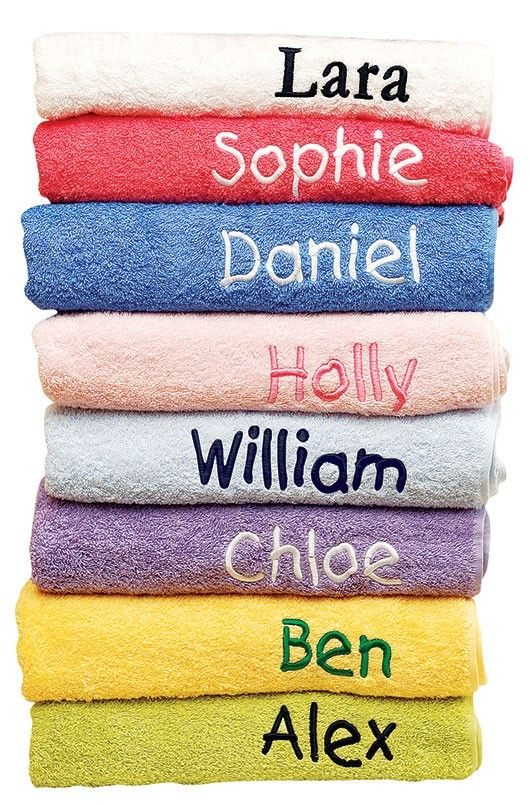 Personalized Towels - Personalized Towels - Homewares ...