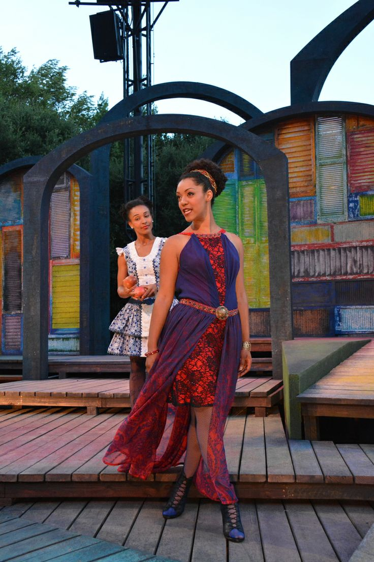 Nemuna Ceesay and Tristan Cunningham at the The Comedy of Errors dress rehearsal (6/24). Photo by Jay Yamada.: Photo