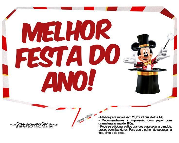 Plaquinhas Mickey Circo