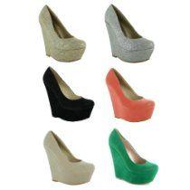 New Ladies Stiletto High Heel Wedge Wedge Court Shoes Sandals