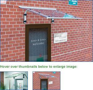 Flat Clear Acrylic Door Canopy