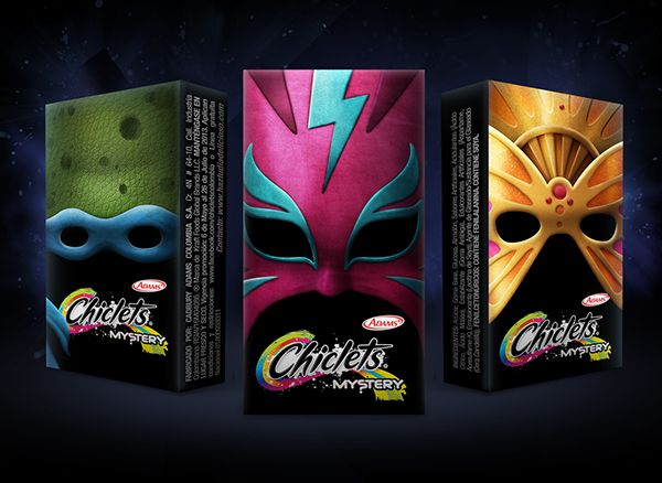 Andrés Moncayo, An Art Director Created Awesome Chiclets Mask Designs
