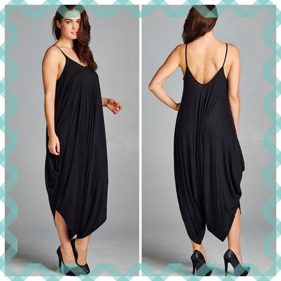 SLEEVELESS HAREM JUMPSUITS These will be your go to outfit for cute comfort!  Larger from XL, XXL & XXL will fit 1X/2X. Rayon/polyester blend. Measurements upon request.   PLEASE DO NOT BUY THIS LISTING, I will personalize it for your you've Tla2 Pants Jumpsuits & Rompers