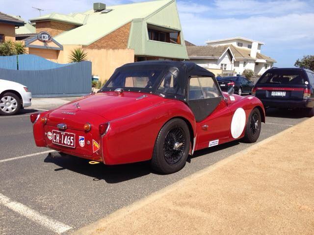 Melbourne, Australia, Cute car along Nepean Hwy.
