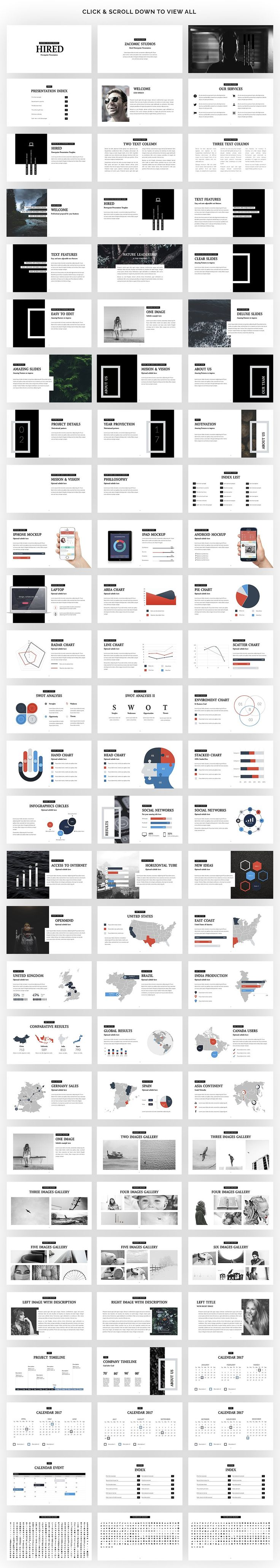 Hired   Powerpoint Presentation by Zacomic Studios on @creativemarket