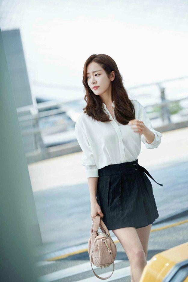 Han Ji Min airport fashion