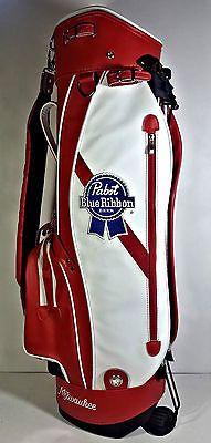 pabst blue ribbon pbr golf bag red white golfers bag beer