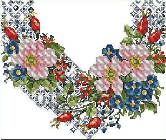 Gallery.ru / Фото #7 - схемы для вышиванок - zhivushaya