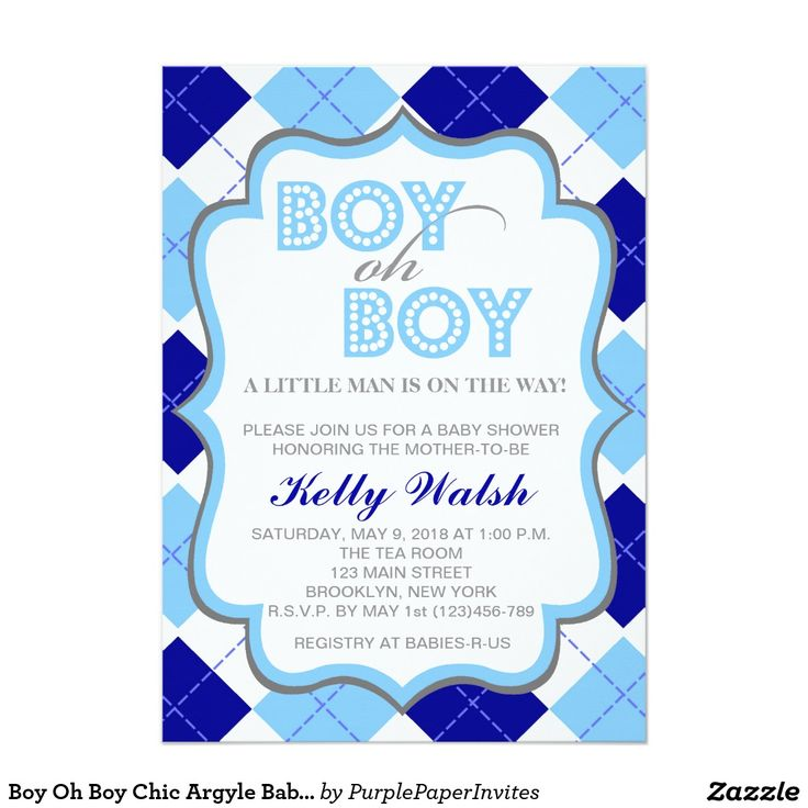 1000+ images about baby shower invitations on pinterest | chevron, Baby shower invitations