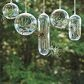 Hanging glass air plant containers.