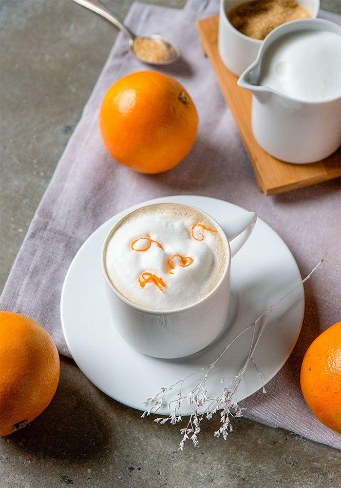 Pomarańczowy kubek kawowy