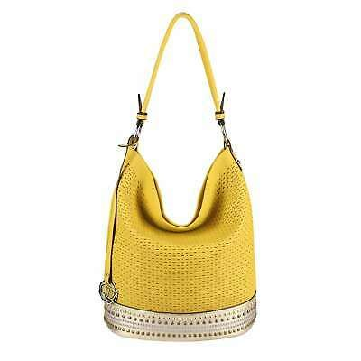 DAMEN TASCHE SHOPPER Schultertasche Handtasche Leder Optik Leder Optik Hobo Bag:… – Italyshop24.com