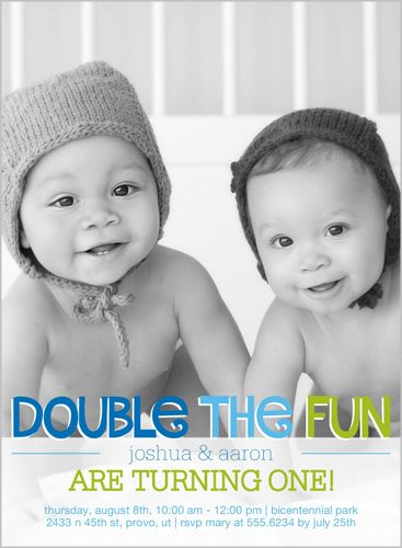 35 best twin birthday invitations images on pinterest twin double the fun twin birthday invitation filmwisefo