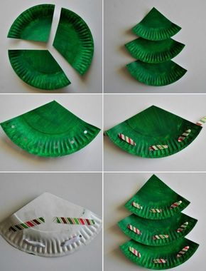 Basteln mit Papptellern – 20 Ideen für Weihnachstbasteln mit Kindern – Alex
