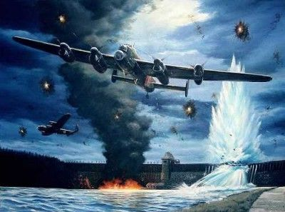 """Operation Chastise"", subsequently known as 'The Dambusters' raid was launched from RAF Scampton Lincoln and carried out by No. 617 Squadron."