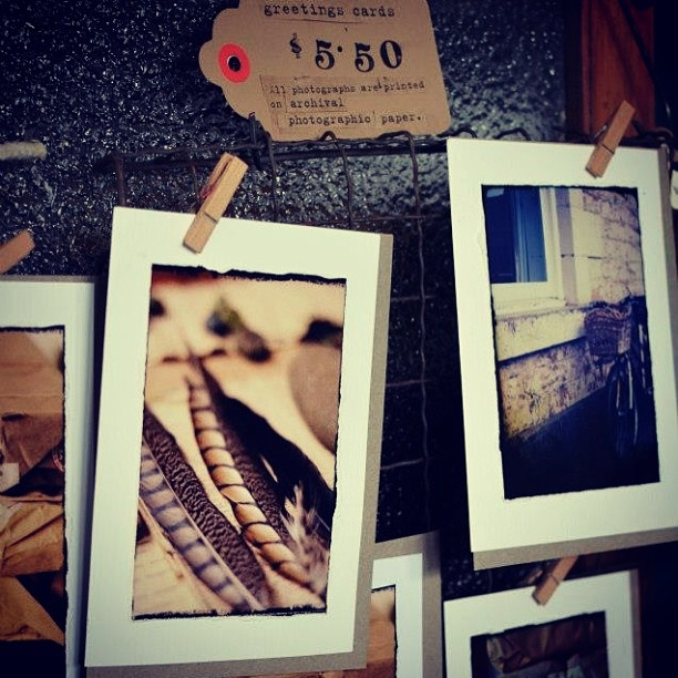 My hand made greeting cards on sale at incub8r gallery on Smith St, Collingwood :)