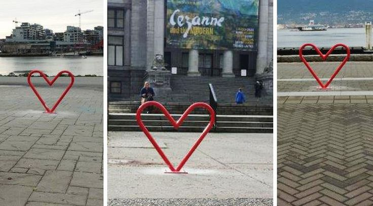 Lock Your Love Up -Heart-shaped bike racks come to Vancouver