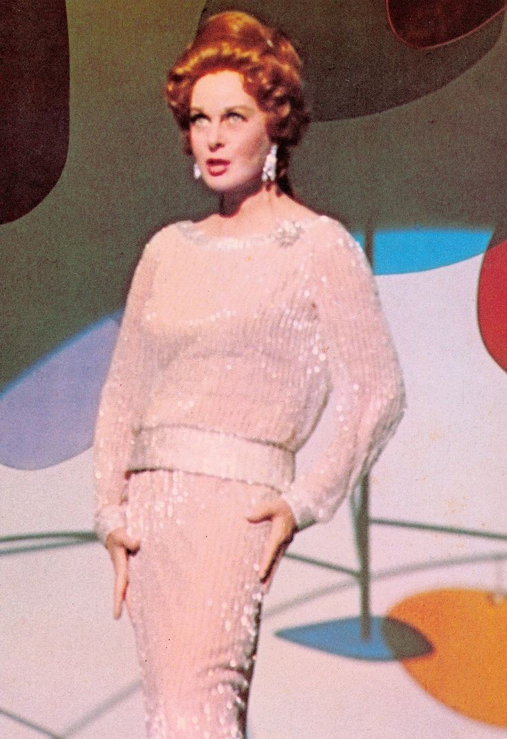 "VALLEY OF THE DOLLS (1967)  SUSAN HAYWARD as Broadway star HELEN LAWSON, doing ""I'll plant my own tree"" Costume design by TRAVILLA. (please follow minkshmink on pinterest)"