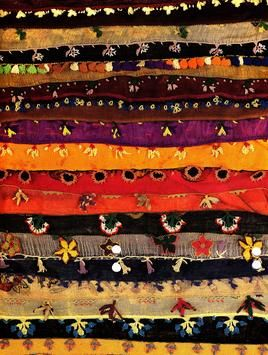 """""""Oya"""", the art of decorating the edges of women's scarves, linens and headdresses utilizing the colors of the Anatolian landscape."""