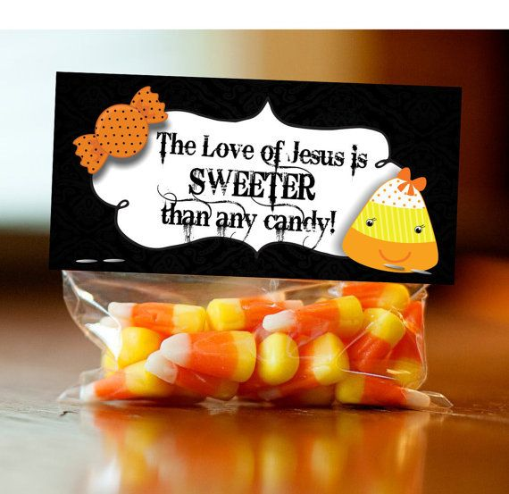 Halloween Treat Bag Topper Label Tag Christian by FoundItCards: