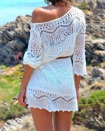 Beautiful crochet cover up