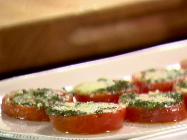 Tomatoes Roasted with Pesto Recipe : Ina Garten : Recipes : Food Network