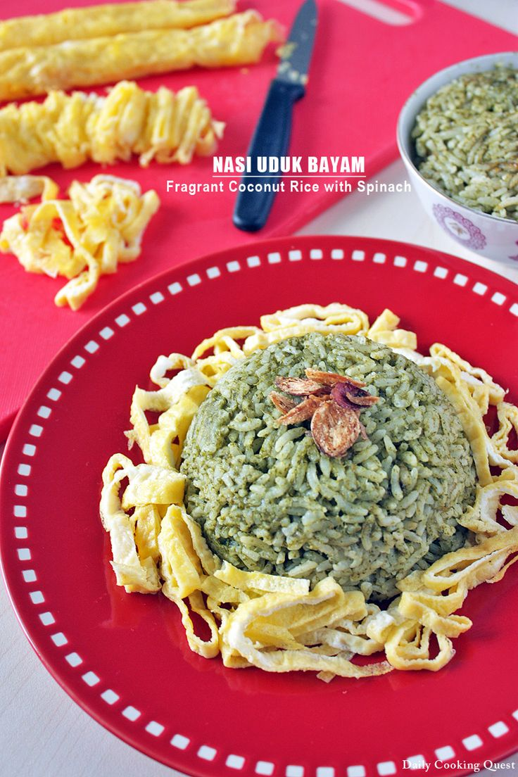 || Nasi Uduk Bayam || This is something of a twist from my basic nasi uduk recipe, by adding some spinach and turn it into something exquisitely different, yet still delicious, and of course healthier version of nasi uduk. A big win all around. A fair warning though, the rice will have spinach taste, so …