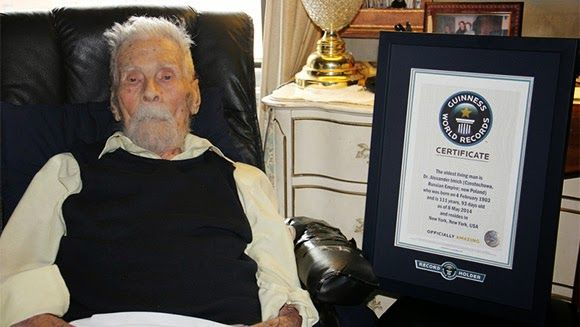 Online World Look Amazing: RECORD - WORLD'S OLDEST MAN DR. ALEXANDER IMICH DIES AGED 111