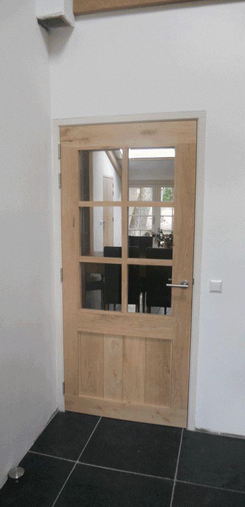 houten binnendeur op maat keuken/wasplaats