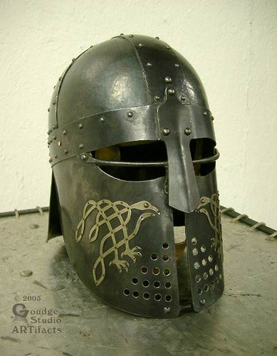 SCA heavy combat | Raven-cheek helm (for SCA combat) | Flickr - Photo Sharing!