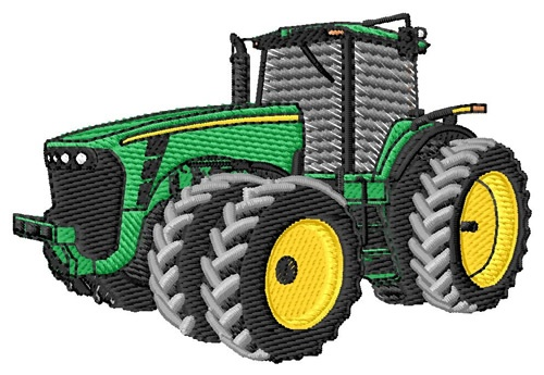 Embroidery Of Tractors : Tractor embroidery design measures quot on