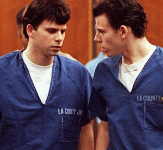 Lyle & Erik Menendez. Murdered their parents and a sensational trial ensued.