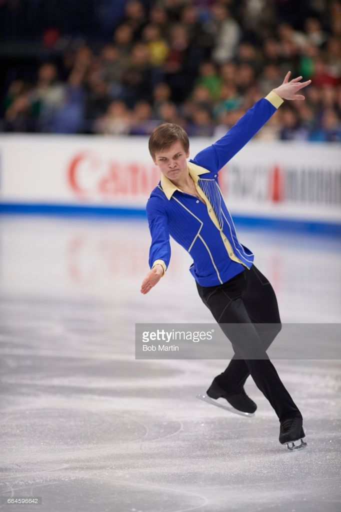 News Photo : Russia Mikhail Kolyada in action during Men's...